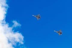 6 agosto 2016 Rjazan', Russia Gli aerei dell'aria militare Immagine Stock