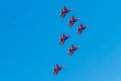 6 agosto 2016 Rjazan', Russia Gli aerei dell'aria militare Immagine Stock Libera da Diritti