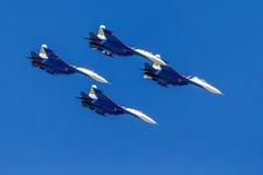 6 agosto 2016 Rjazan', Russia Gli aerei dell'aria militare Fotografia Stock