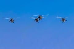 6 agosto 2016 Rjazan', Russia Gli elicotteri dei militari Fotografia Stock