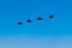 6 agosto 2016 Rjazan', Russia Gli elicotteri dei militari Fotografia Stock Libera da Diritti