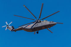 6 agosto 2016 Rjazan', Russia Gli elicotteri dei militari Immagini Stock Libere da Diritti