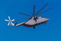 6 agosto 2016 Rjazan', Russia Gli elicotteri dei militari Immagini Stock