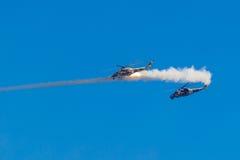 6 agosto 2016 Rjazan', Russia L'elicottero dei militari A Fotografia Stock Libera da Diritti
