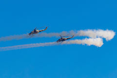 6 agosto 2016 Rjazan', Russia L'elicottero dei militari A Fotografia Stock