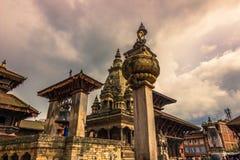18 agosto 2014 - tempio di Bhaktapur, Nepal Fotografia Stock Libera da Diritti