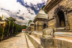 18 agosto 2014 - tempio di Pashupatinath a Kathmandu, Nepal Fotografia Stock Libera da Diritti