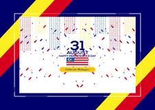 31 agosto - Vector la progettazione patriottica di festa dell'indipendenza della Malesia dell'illustrazione Cartolina d'auguri fe illustrazione vettoriale