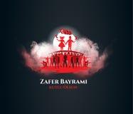 30 agosto Zafer Bayrami Immagini Stock Libere da Diritti