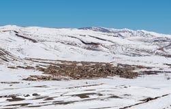 Agoudal, il più alto villaggio nel Marocco, Africa immagini stock libere da diritti