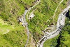 Agoyan rośliny Tungurahua anteny Elektryczny strzał Obrazy Stock