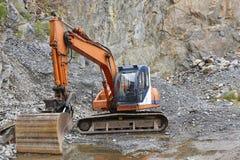 Agrégat de carrière avec les machines résistantes Construction Industr photo libre de droits