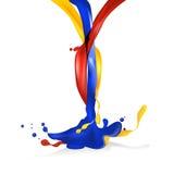 Agrégation d'objet d'illustration de vecteur de liquide Image libre de droits