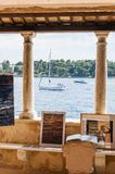 Agrément, arts, paysages marins de Rovinj, Istria, Croatie photos stock