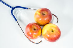 Agrícola diagnostique, manzana foto de archivo