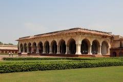 Agra binnen het kasteel Royalty-vrije Stock Afbeelding