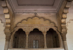 Agra binnen het kasteel Royalty-vrije Stock Foto