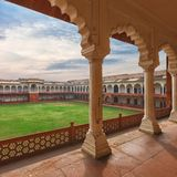 Agra Czerwony fort, India, Uttar Pradesh Fotografia Royalty Free