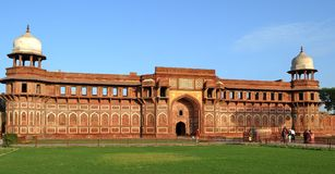Agra fort. Is a UNESCO World Heritage site located in Agra, India. t is the most important fort in India.The great Mugals, Humayun, Akbar, Jehangir, Shah Jahan Royalty Free Stock Images