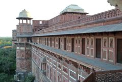 Agra fort stock photo