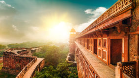 Agra fort. Agra Uttar Pradesh, Indien, Asien. Arkivfoton