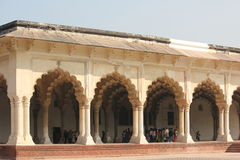 Agra fort, architektoniczny szczegół Obraz Stock