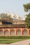 Agra fort, architektoniczny szczegół Obrazy Royalty Free