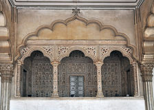 Agra Fort - Balcony for Emperor and Peacock Throne Stock Photos