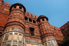 Agra Fort - berömd landmark, UNESCO-världsarv, Indien arkivbild