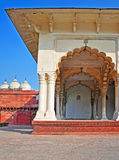 Agra Fort - Diwan-e-Am(Public Audience Hall). The Fort at Agra Akbar is among the many Mughal Architectural highlights to be seen in Agra. The richness and Stock Photo