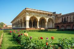 Agra fort Diwan Jestem Hall Jawna widownia w ind Fotografia Royalty Free
