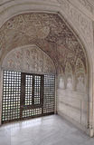 Agra Fort - Emperor's Apartment. The Fort at Agra Akbar is among the many Mughal Architectural highlights to be seen in Agra. The richness and artistry of design Royalty Free Stock Photos