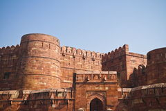 Agra Fort Entrance. Front entrance view of Agra Fort.India Royalty Free Stock Photos