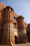 Agra fort gates. A view on red-brick towers in Agra fortress Stock Photos