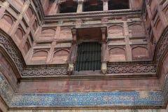 Agra fort i Agra, Indien arkivfoton