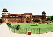 Agra Fort, India. Jahangiri Mahal building inside the Agra Fort of India stock photography