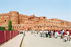 Agra Fort, India. The outside walls of the Agra Fort of India royalty free stock photos