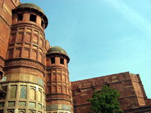Agra Fort. India. The high walls of the Agra Fort. India Royalty Free Stock Photography