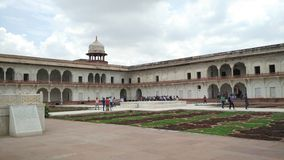 Agra fort india. The courtyard of the agra fort built by the mughals stock photography
