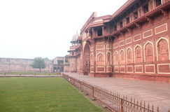 Agra Fort, India. Entrance of Red Fort, Agra, India It was first built around 11th century. Current structure is given my Mughal Emperor Shah Jahan in 16th Royalty Free Stock Photo