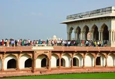 Agra fort, Indien Royaltyfria Foton