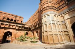 Agra-Fort in Indien Stockbilder