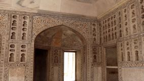 Agra fort interior art decoration. Agra fort amazing art work is taken at agra uttar pradesh india on 02 apr 2019. It is one of the seven wonders of the world as stock video