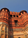 Agra Fort - Main Entrance Gate. The Fort at Agra Akbar is among the many Mughal Architectural highlights to be seen in Agra. The richness and artistry of design Royalty Free Stock Photos