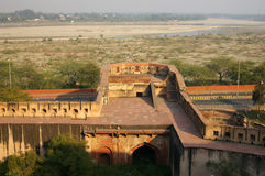 Agra Fort outside area Royalty Free Stock Photos