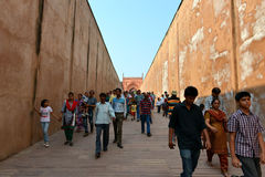 Agra Fort Passage, Agra Stock Photo