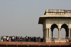 Agra Fort and people Stock Image