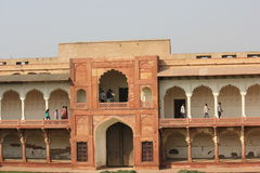 Agra Fort and people Stock Photos