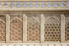 Intricate design and carving in Jahangir Palace. Agra Fort is 11th century Mughal Architectural Masterpiece Stock Photos