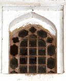Traditional ancient window in Agra fort Stock Image
